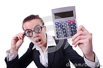 Nerd female accountant
