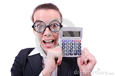 Nerd female accountant