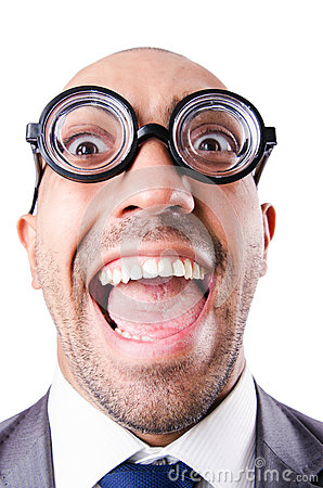 Nerd funny businessman
