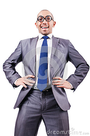 Nerd funny businessman