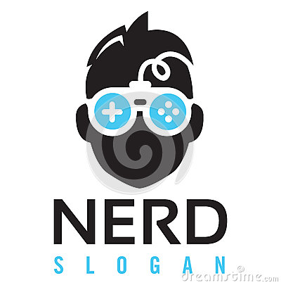 Free Nerd Gaming Logo Royalty Free Stock Photo - 71192825