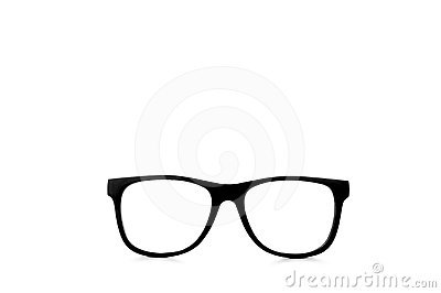 Nerd glasses with clipping paths