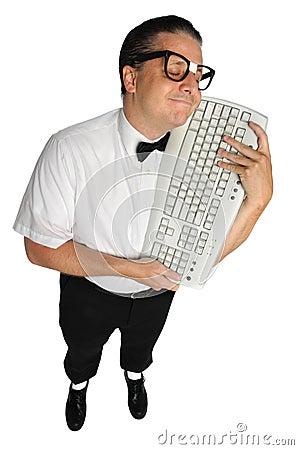 Nerd Holding Keyboard