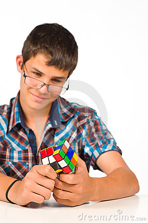 Nerd playing Editorial Stock Image