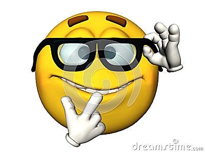 Nerdy Emoticon Royalty Free Stock Image - Image: 14491196