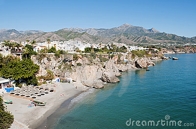 Nerja Beach Andalusia Spain