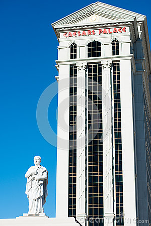 Nero s statue in Caesar s Palace Editorial Photography