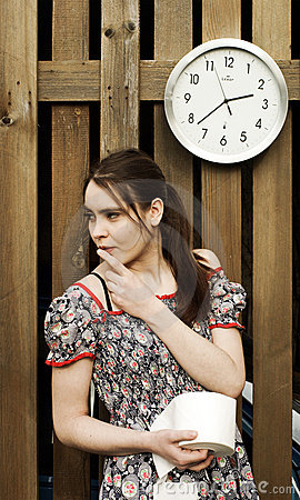 Free Nervous Girl With Toilet Paper Royalty Free Stock Images - 5210719