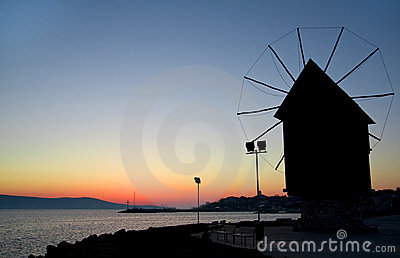 Nesebar Mill - sunrise