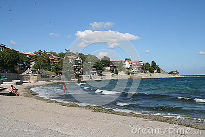 Nessebar coastline, Bulgaria Editorial Stock Image