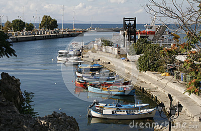 Nessebar harbour, Bulgaria Editorial Image