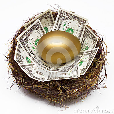 Free NEST EGG SAVING RETIREMENT FUND FINANCIAL WEALTH PLANNING Stock Photo - 56918010