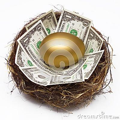 Free NEST EGG SAVING RETIREMENT FUND FINANCIAL WEALTH PLANNING Stock Photo - 56918010