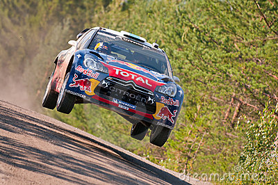 Neste Oil Rally Finland 2011 - Sébastien Ogier Editorial Photography