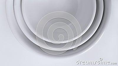 Nestled White Bowls