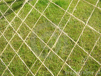 Net against the grass