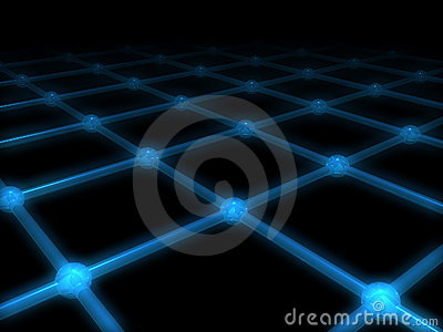 A net with glow effect