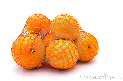 Net with mandarines