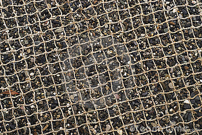 Net and pebble sand