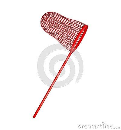 Net in red design