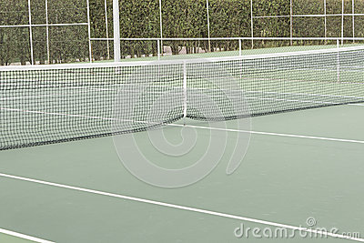 Net and tennis court