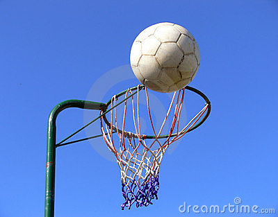 Netball basket and ball