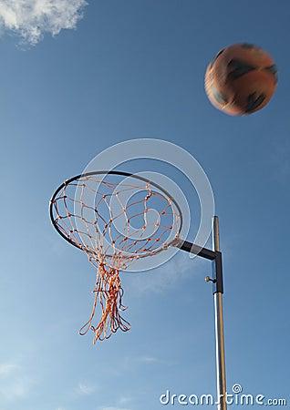 Netball Hoop And Netball Royalty Free Stock Photos Image