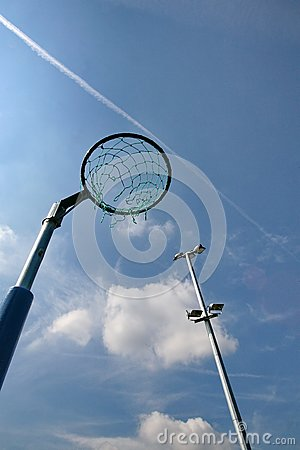 Netball Net with Floodlight