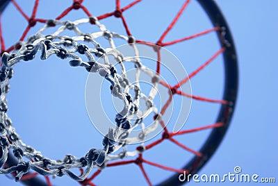 Netball ball and hoop