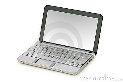 Netbook isolated