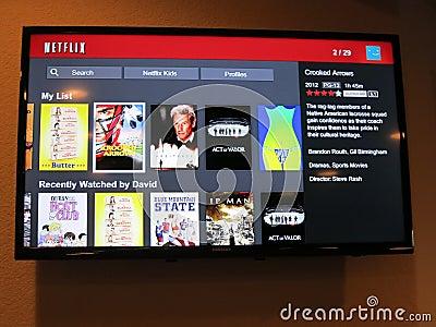 Netflix Watch Shows Screen Editorial Photography