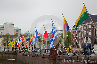 Netherlands capital, The Hague Editorial Stock Image