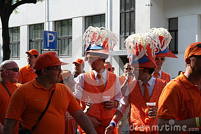 Netherlands fans Editorial Image