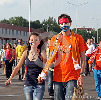 Netherlands fans Editorial Stock Image