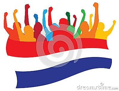 Netherlands fans illustration