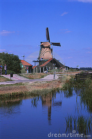 NETHERLANDS/HOLLAND_KINDERDIJK WINDMILLS Editorial Stock Photo