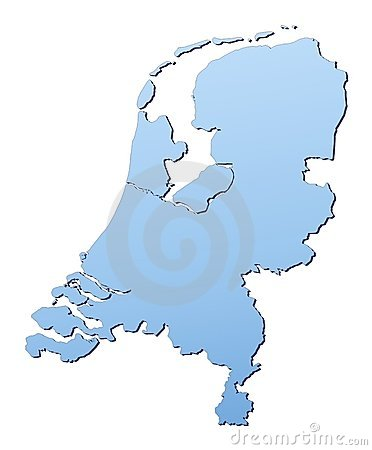 Free Netherlands Map Royalty Free Stock Images - 4582109