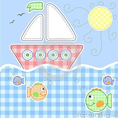 Nette Schätzchengrußkarte