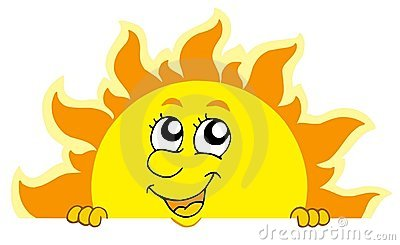 Netter lauernder Sun