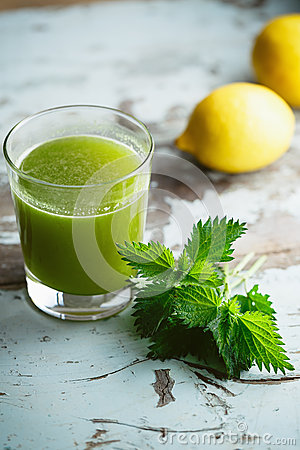 Free Nettle And Lemon Juice Royalty Free Stock Photos - 53271398