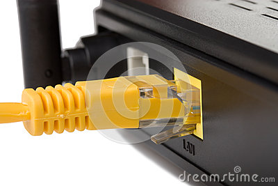 Network cable connected