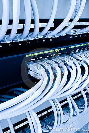 Free Network Cables In Data Center Stock Images - 8449644