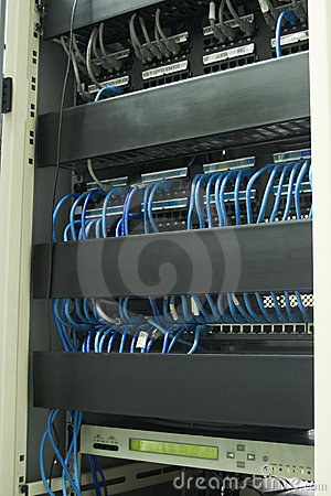 Network Cables In Rack