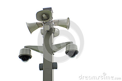 Network cameras and megaphones
