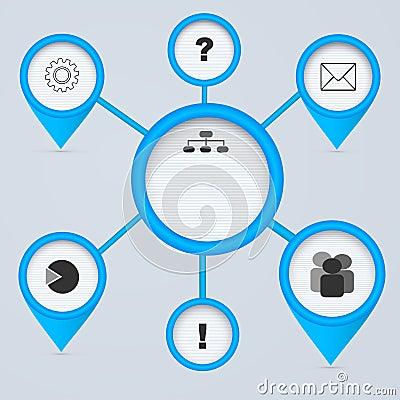 Network 3d circles.