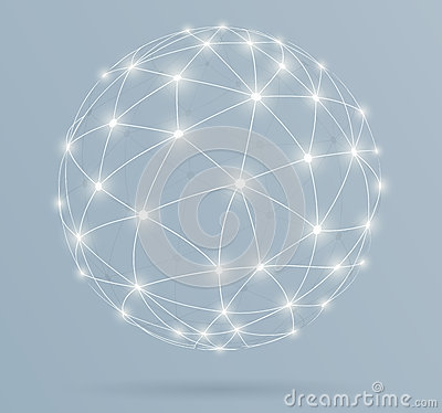Free Network, Global Digital Connections With Glowing Lines Royalty Free Stock Photos - 39914188