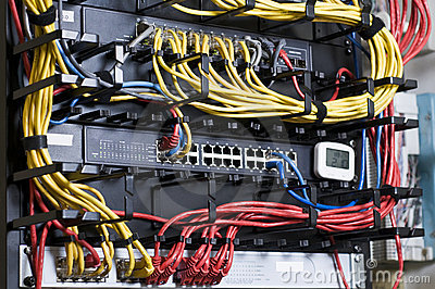 Network hub and patch cables