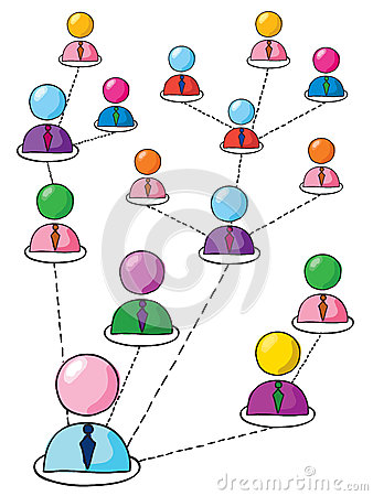 Network of people Vector Illustration