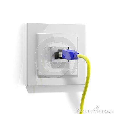 Network plug with cable