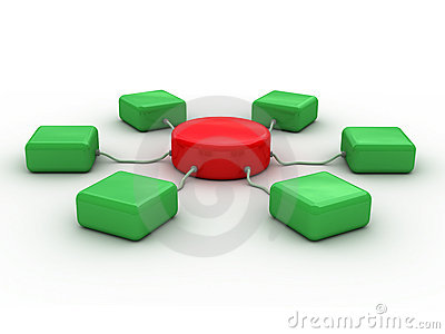Network (red and green)